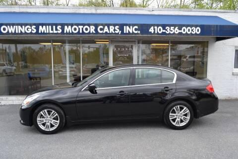 2011 Infiniti G37 Sedan for sale at Owings Mills Motor Cars in Owings Mills MD