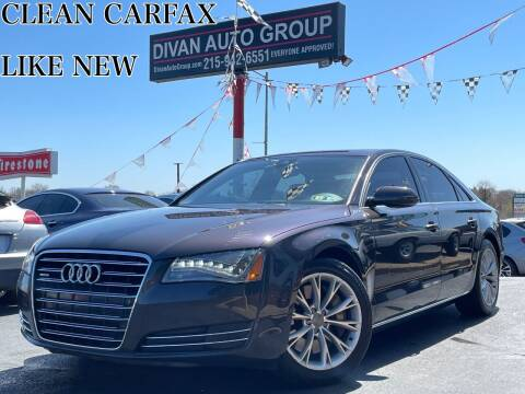 2012 Audi A8 for sale at Divan Auto Group in Feasterville Trevose PA