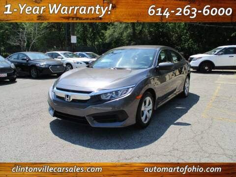 2016 Honda Civic for sale at Clintonville Car Sales - AutoMart of Ohio in Columbus OH