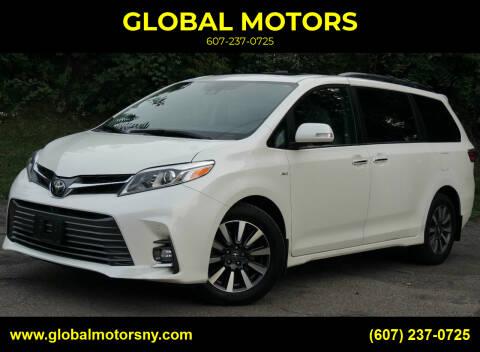 2018 Toyota Sienna for sale at GLOBAL MOTORS in Binghamton NY