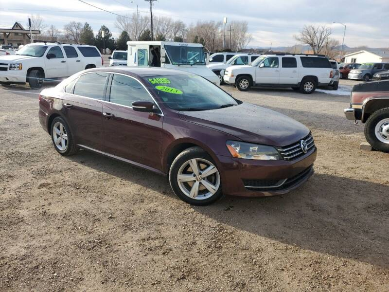 2013 Volkswagen Passat for sale at Canyon View Auto Sales in Cedar City UT