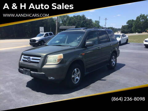 2006 Honda Pilot for sale at A & H Auto Sales in Greenville SC