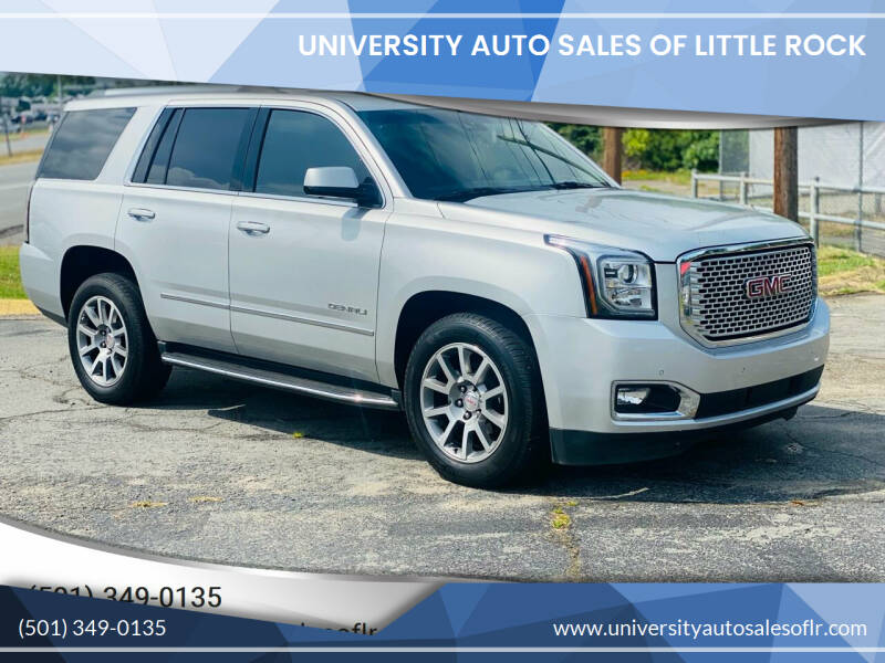 2017 GMC Yukon for sale at University Auto Sales of Little Rock in Little Rock AR