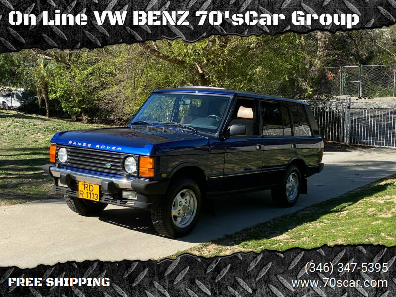 1995 Land Rover Range Rover for sale at On Line VW BENZ 70'sCar Group in Warehouse CA