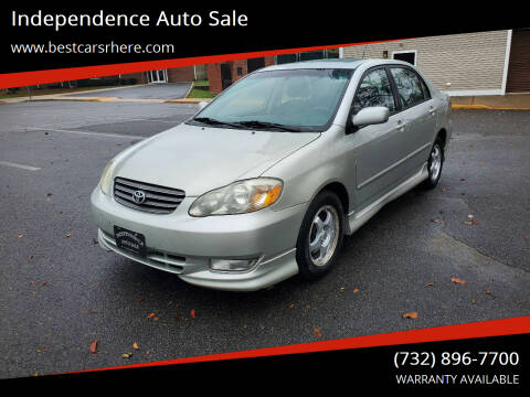 2004 Toyota Corolla for sale at Independence Auto Sale in Bordentown NJ