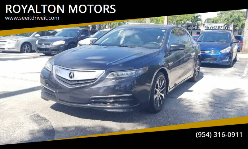 2015 Acura TLX for sale at ROYALTON MOTORS in Plantation FL