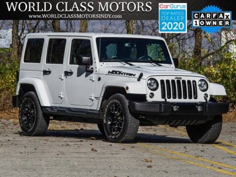 2017 Jeep Wrangler Unlimited for sale at World Class Motors LLC in Noblesville IN