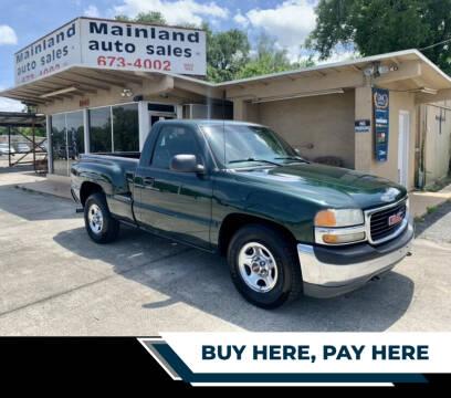 2001 GMC Sierra 1500 for sale at Mainland Auto Sales Inc in Daytona Beach FL