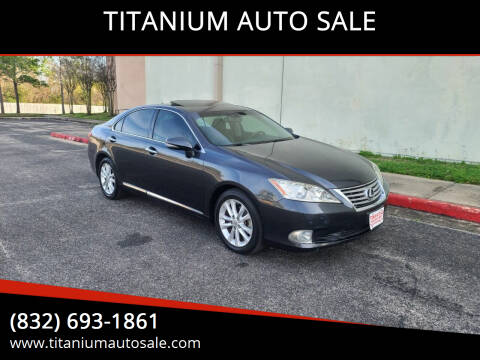 2011 Lexus ES 350 for sale at TITANIUM AUTO SALE in Houston TX