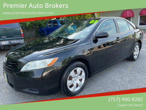 2007 Toyota Camry for sale at Premier Auto Brokers in Virginia Beach VA