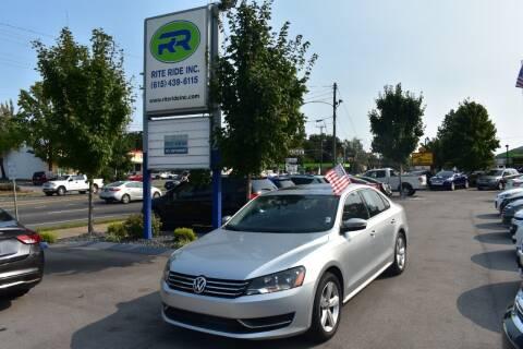 2013 Volkswagen Passat for sale at Rite Ride Inc 2 in Shelbyville TN