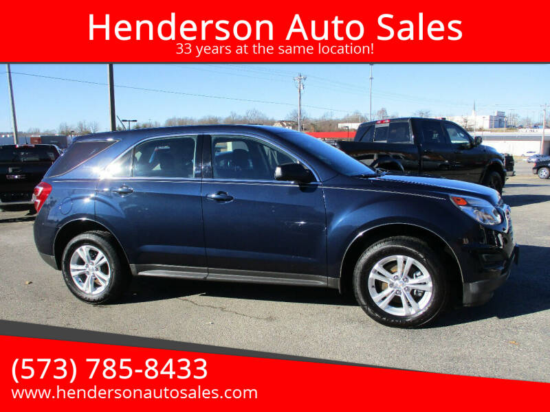 2017 Chevrolet Equinox for sale at Henderson Auto Sales in Poplar Bluff MO