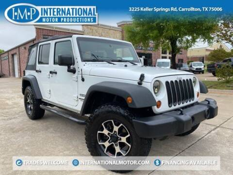 2012 Jeep Wrangler Unlimited for sale at International Motor Productions in Carrollton TX