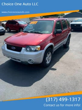 2005 Ford Escape Hybrid for sale at Choice One Auto LLC in Beech Grove IN
