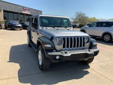 2020 Jeep Wrangler Unlimited for sale at KIAN MOTORS INC in Plano TX