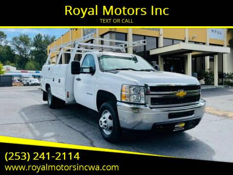 2013 Chevrolet Silverado 3500HD for sale at Royal Motors Inc in Kent WA