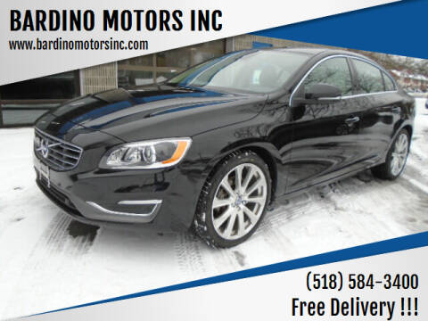 2017 Volvo S60 for sale at BARDINO MOTORS INC in Saratoga Springs NY