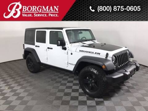 2017 Jeep Wrangler Unlimited for sale at BORGMAN OF HOLLAND LLC in Holland MI
