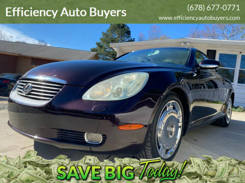 2003 Lexus SC 430 for sale at Efficiency Auto Buyers in Milton GA