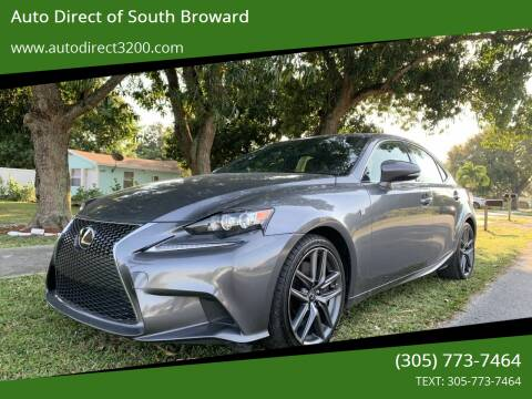 2015 Lexus IS 350 for sale at Auto Direct of South Broward in Miramar FL