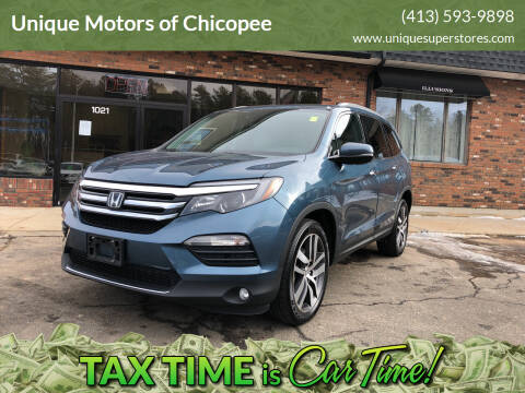 2016 Honda Pilot for sale at Unique Motors of Chicopee in Chicopee MA