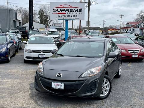 2010 Mazda MAZDA3 for sale at Supreme Auto Sales in Chesapeake VA