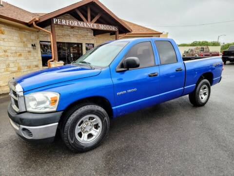 2007 Dodge Ram Pickup 1500 for sale at Performance Motors Killeen Second Chance in Killeen TX