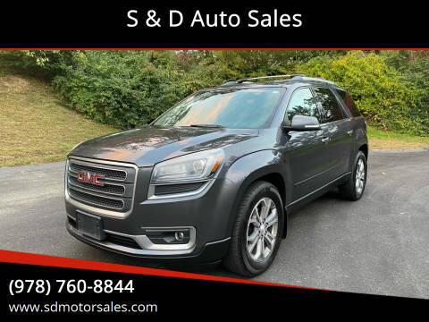 2014 GMC Acadia for sale at S & D Auto Sales in Maynard MA
