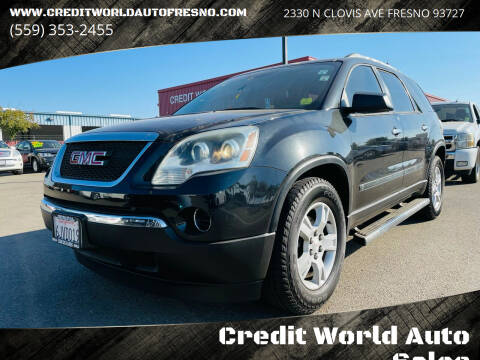 2010 GMC Acadia for sale at Credit World Auto Sales in Fresno CA