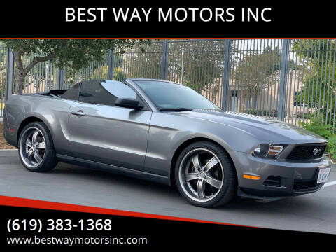 2010 Ford Mustang for sale at BEST WAY MOTORS INC in San Diego CA