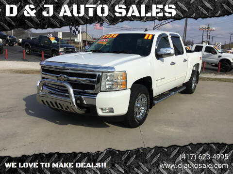 2011 Chevrolet Silverado 1500 for sale at D & J AUTO SALES in Joplin MO