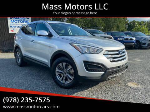 2016 Hyundai Santa Fe Sport for sale at Mass Motors LLC in Worcester MA