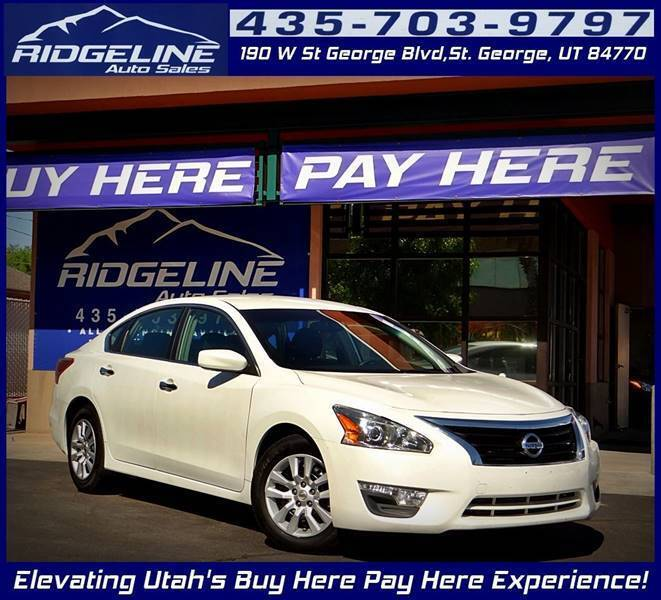 2013 Nissan Altima for sale at Ridgeline Auto Sales in Saint George UT