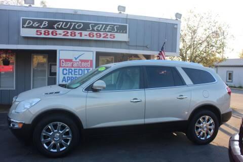 2012 Buick Enclave for sale at D & B Auto Sales LLC in Washington MI