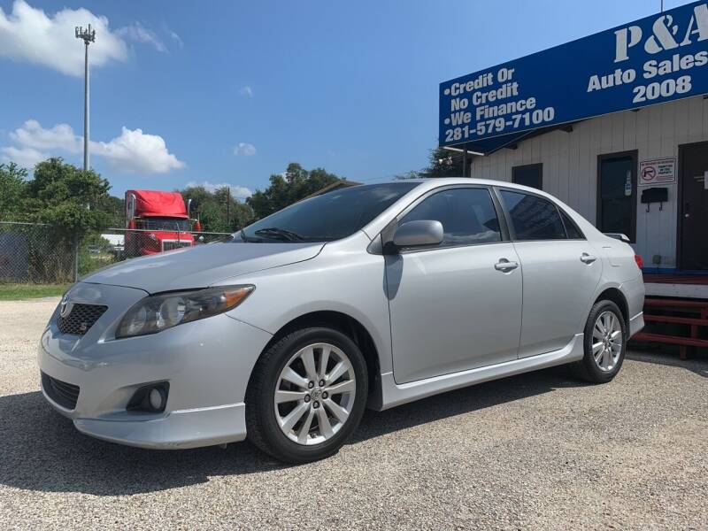 2010 Toyota Corolla for sale at P & A AUTO SALES in Houston TX