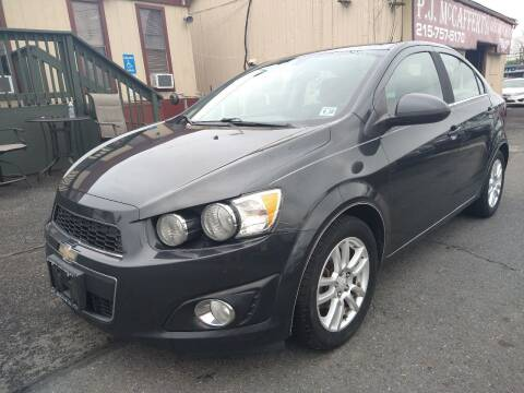 2014 Chevrolet Sonic for sale at P J McCafferty Inc in Langhorne PA