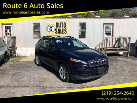 2015 Jeep Cherokee for sale at Route 6 Auto Sales in Portage IN