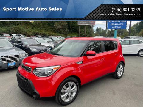 2015 Kia Soul for sale at Sport Motive Auto Sales in Seattle WA