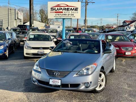 2006 Toyota Camry Solara for sale at Supreme Auto Sales in Chesapeake VA