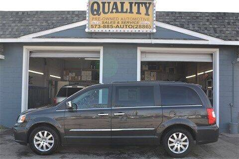 2012 Chrysler Town and Country for sale at Quality Pre-Owned Automotive in Cuba MO