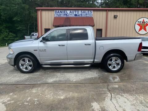 2013 RAM Ram Pickup 1500 for sale at Daniel Used Auto Sales in Dallas GA