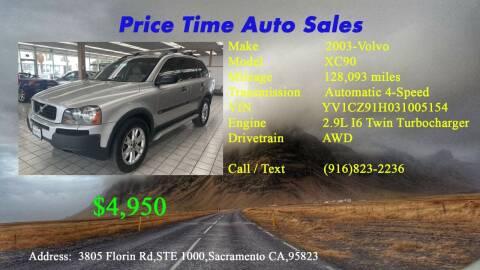 2003 Volvo XC90 for sale at PRICE TIME AUTO SALES in Sacramento CA