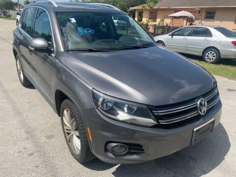 2012 Volkswagen Tiguan for sale at Eden Cars Inc in Hollywood FL