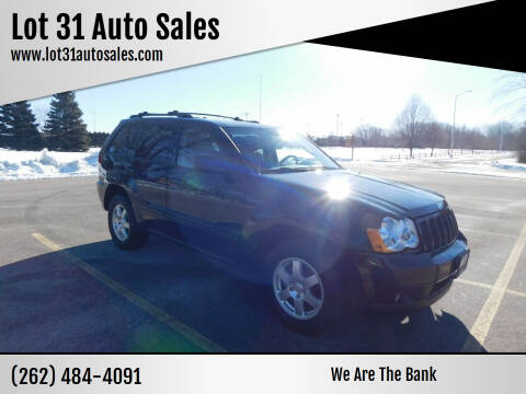 2008 Jeep Grand Cherokee for sale at Lot 31 Auto Sales in Kenosha WI