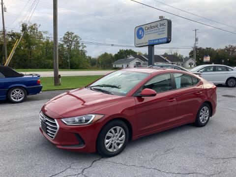 2017 Hyundai Elantra for sale at R J Cackovic Auto Sales, Service & Rental in Harrisburg PA