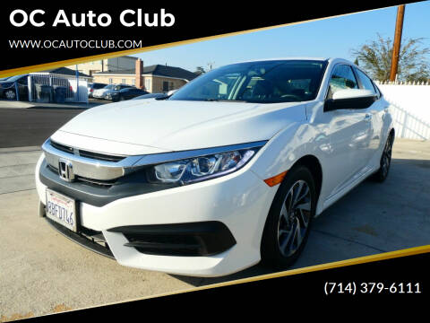 2018 Honda Civic for sale at OC Auto Club in Midway City CA
