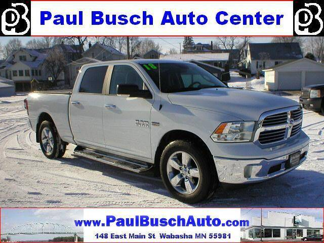 2018 RAM Ram Pickup 1500 for sale at Paul Busch Auto Center Inc in Wabasha MN