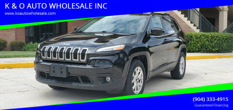 2014 Jeep Cherokee for sale at K & O AUTO WHOLESALE INC in Jacksonville FL