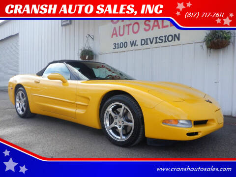 2004 Chevrolet Corvette for sale at CRANSH AUTO SALES, INC in Arlington TX