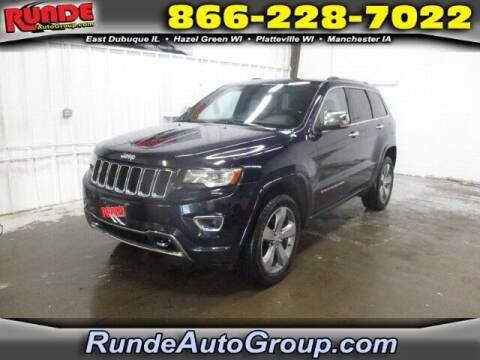 2014 Jeep Grand Cherokee for sale at Runde PreDriven in Hazel Green WI